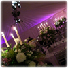 Up lights, marquee wedding