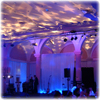 uplights, wedding stage, band lighting