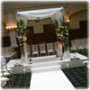 wedding lighting, drapes